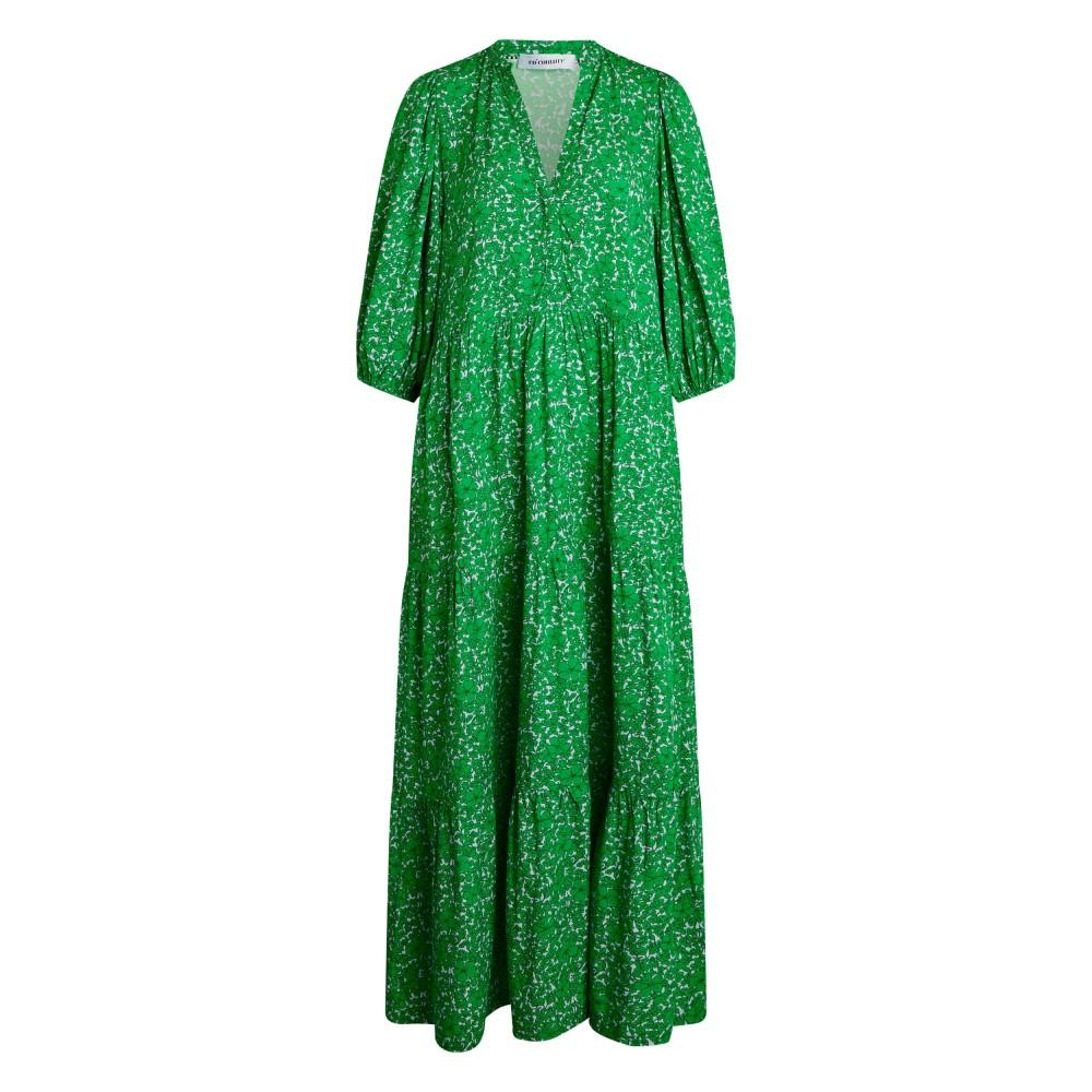 Field flower floor dress - green
