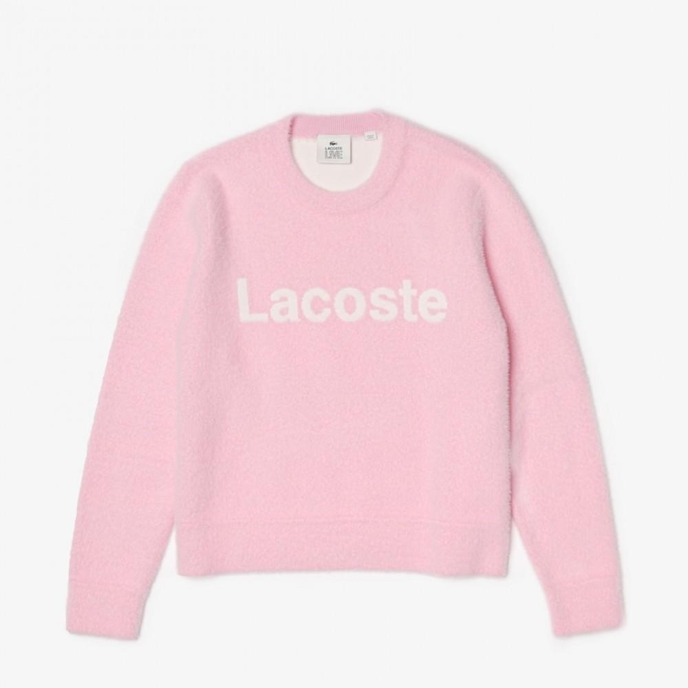 L!ve Soft Cotton Sweater - Pink/Hvid