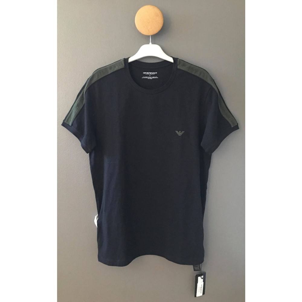 Crew Neck T-shirt S/Sleeve, black/green