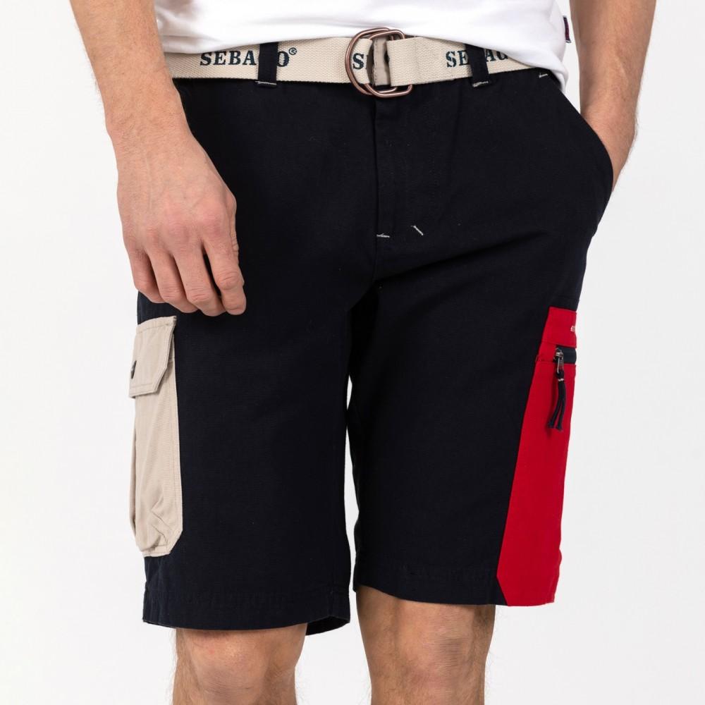 Red Pocket Shorts, navy