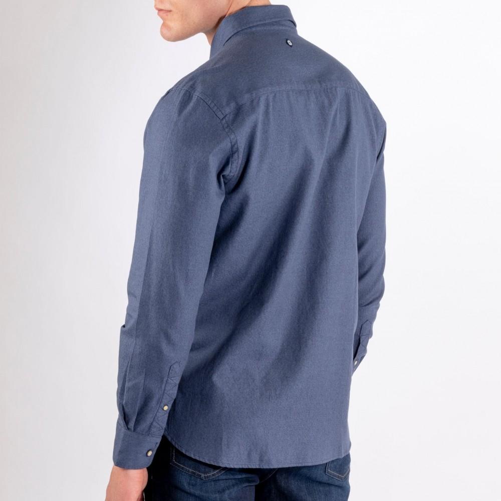 Sebago - Docksides Jaspe Melange Shirt Navy