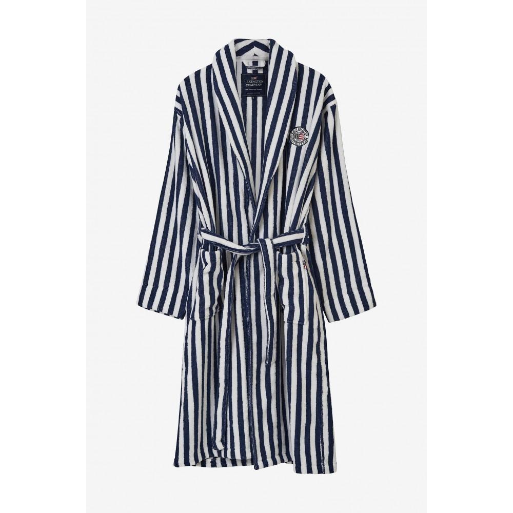 Striped Cotton-Mix Terry Robe
