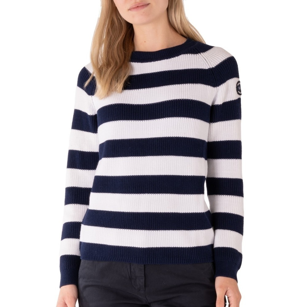 Knitted Crew - navy/white