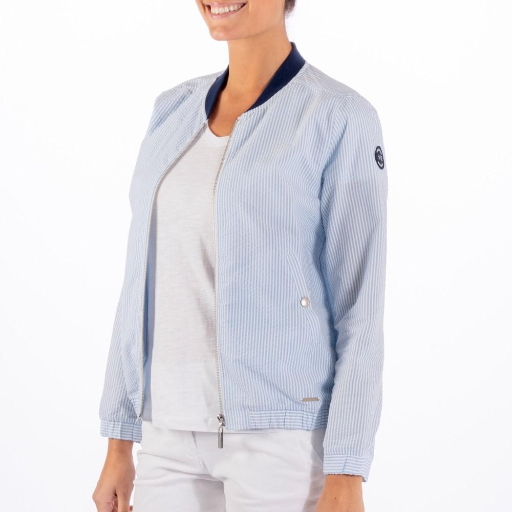Seersucker jacket - blue/white