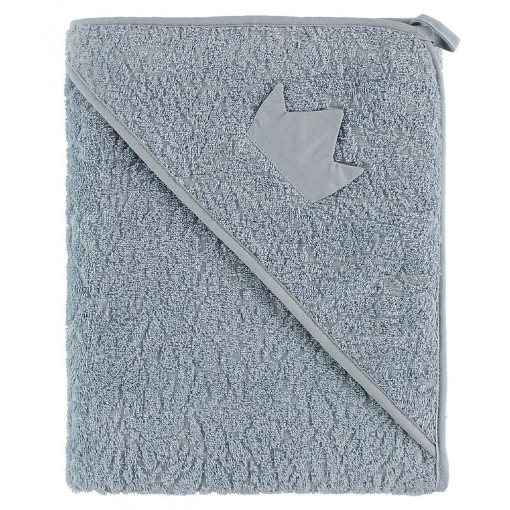 Organic hooded towel - blue