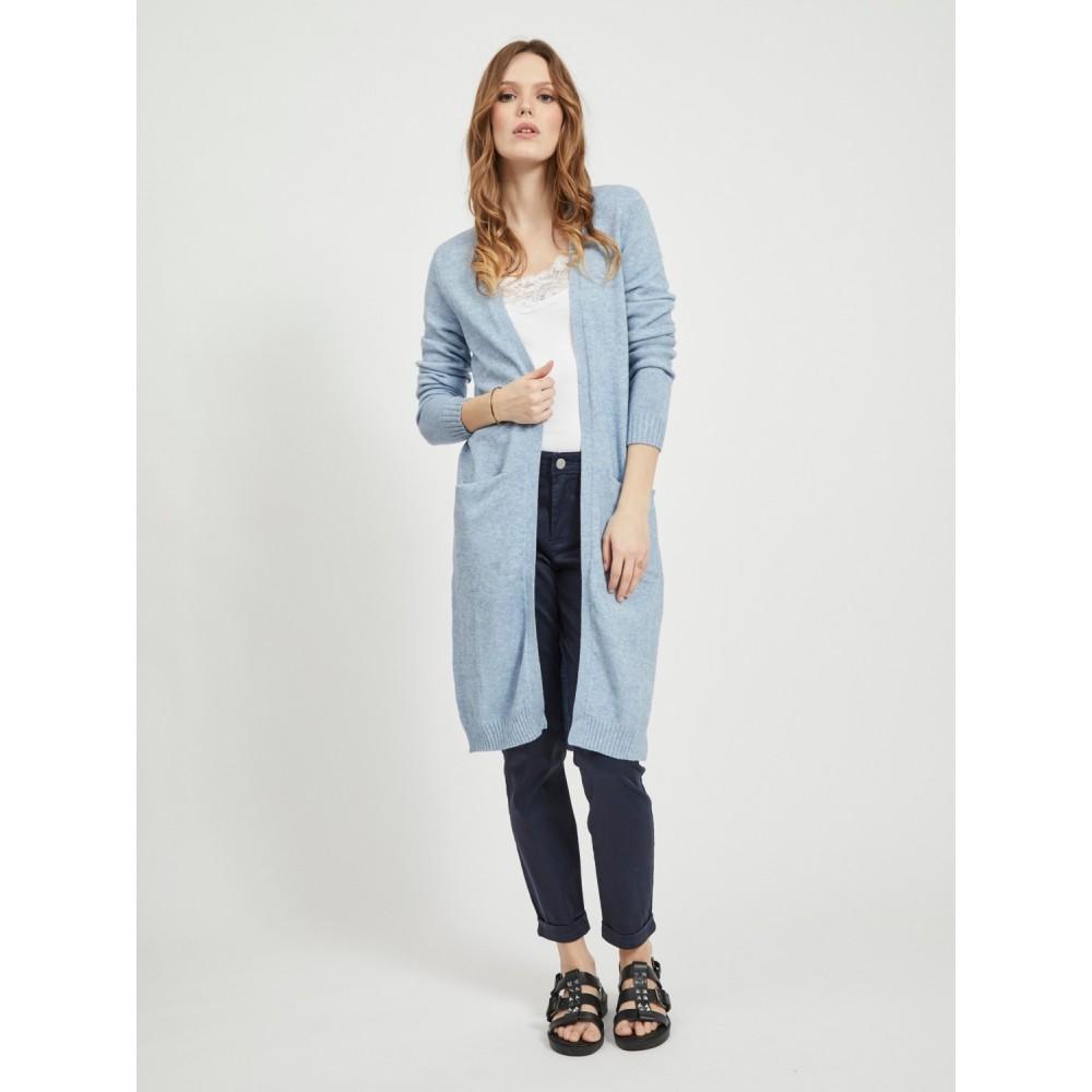 Viril Long L/S Knit Cardigan Ashley blue