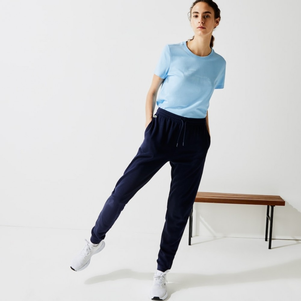Women's Lacoste SPORT Tennis Fleece Trackpants - navy