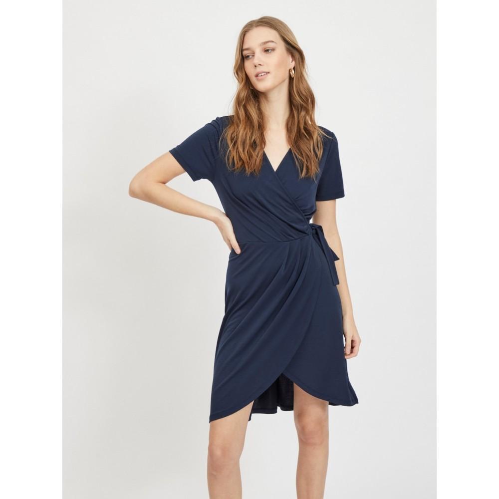 Vinayeli S/S knee wrap dress - navy blazer