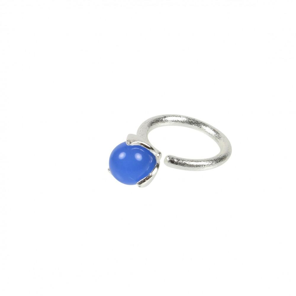 Ring med sten 10mm - blue