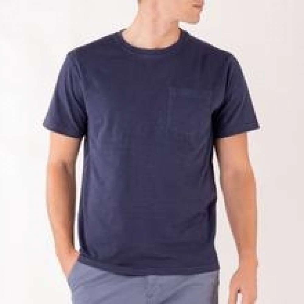 Outwashed pocket tee - navy