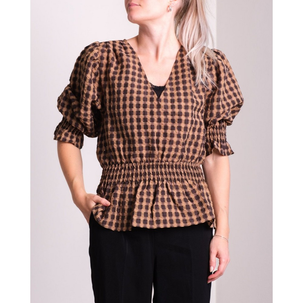 Mia Airy Check Blouse