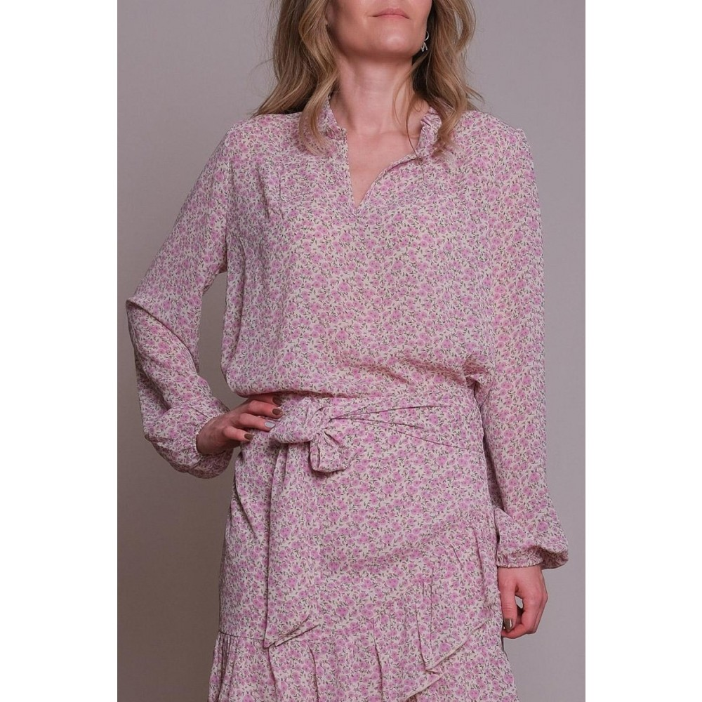 Bisa camellia blouse - light pink