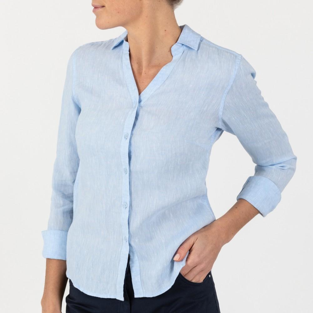 Bianca linen shirt - light blue
