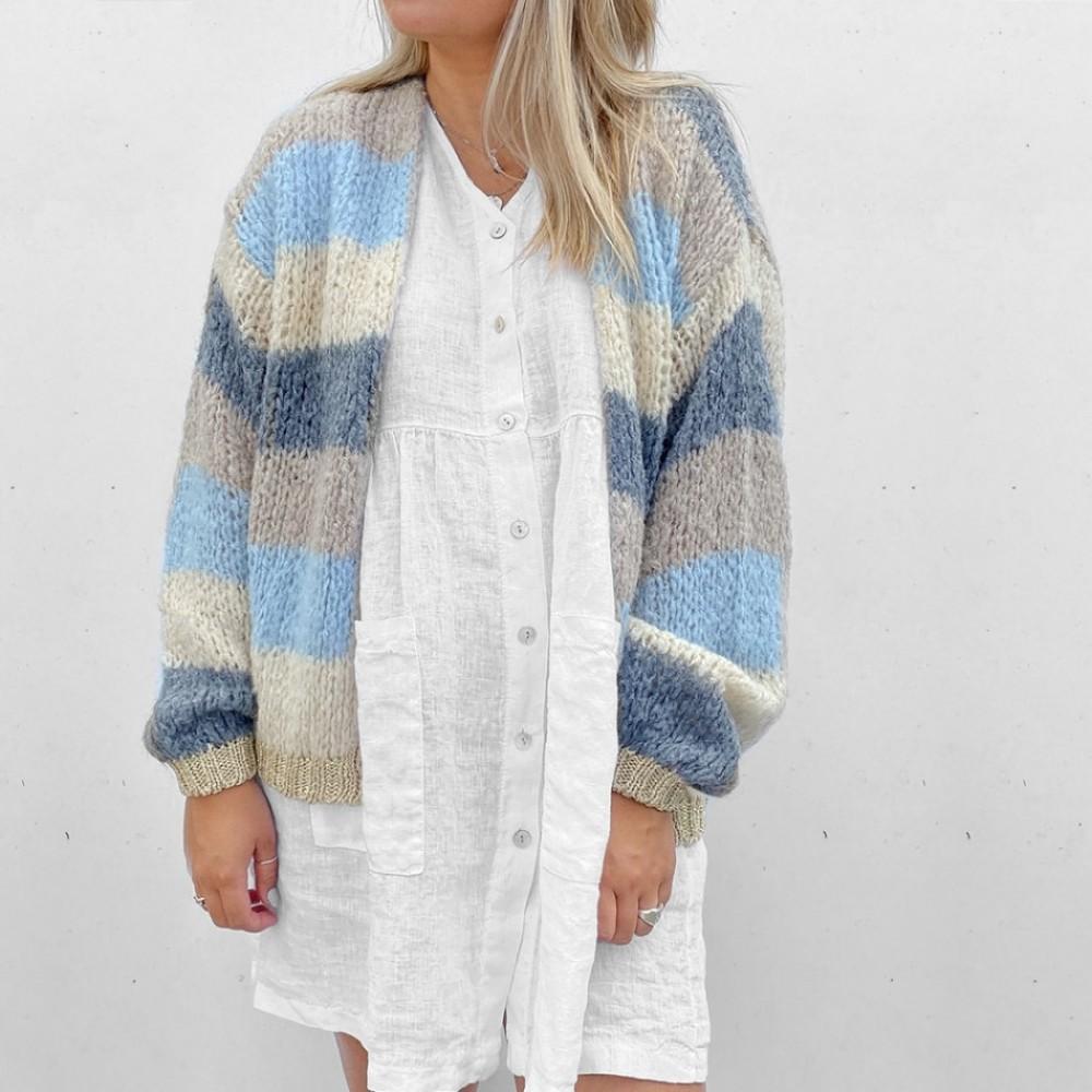 Kala Knit Cardigan Rainbow Stripes