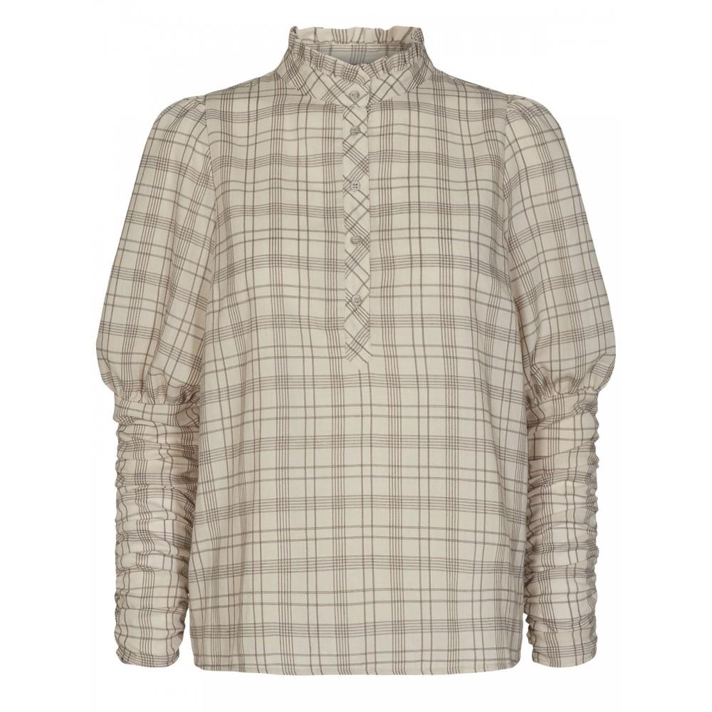 Rowland check shirt - marzipan