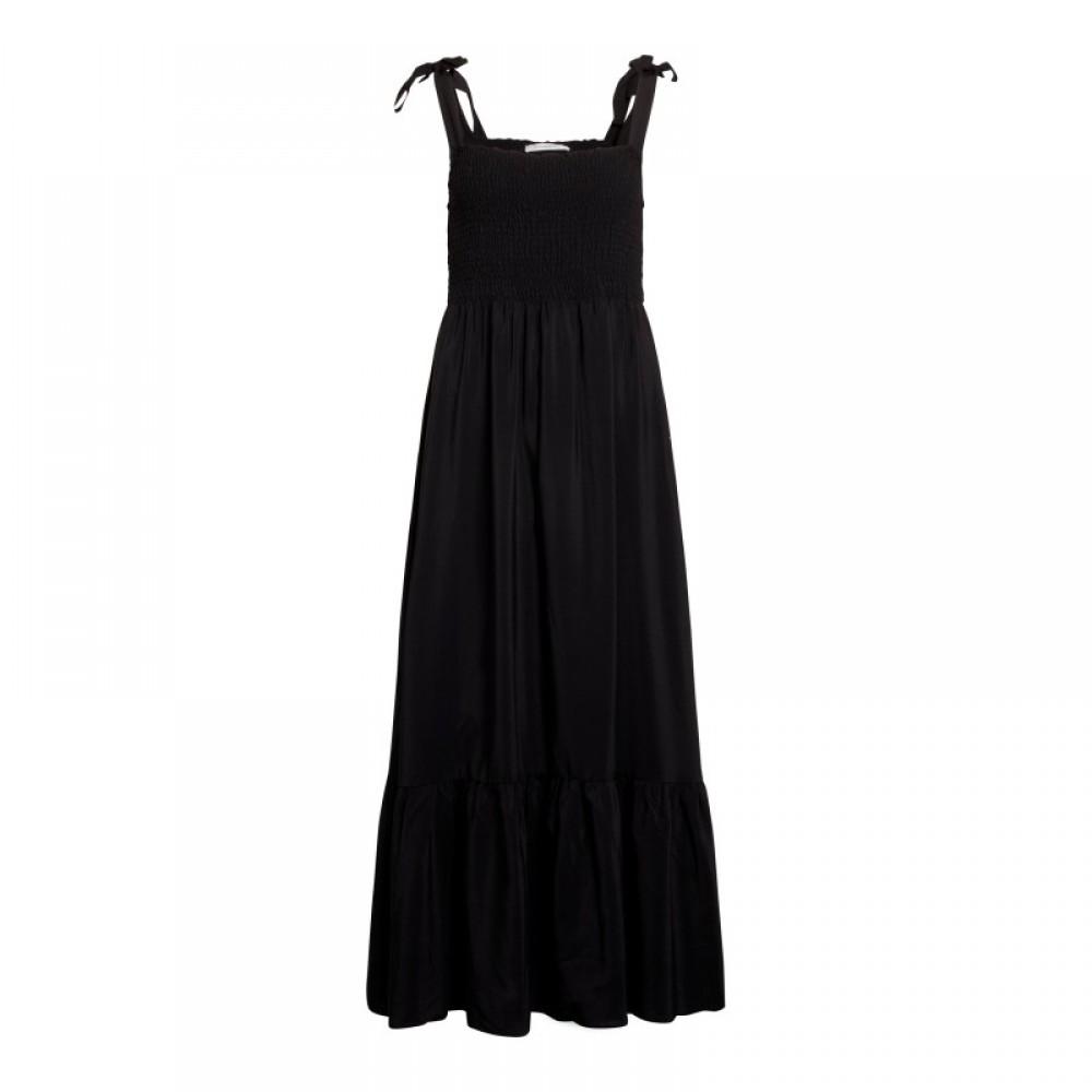 Sunrise floor strap dress - black