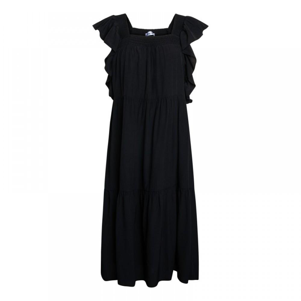 Sunrise smock dress - black