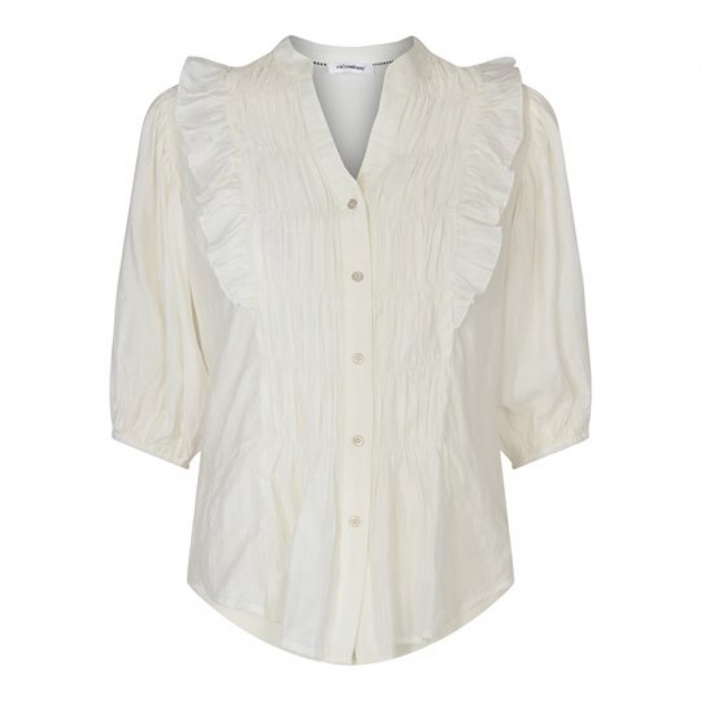 Avery smock shirt - off white