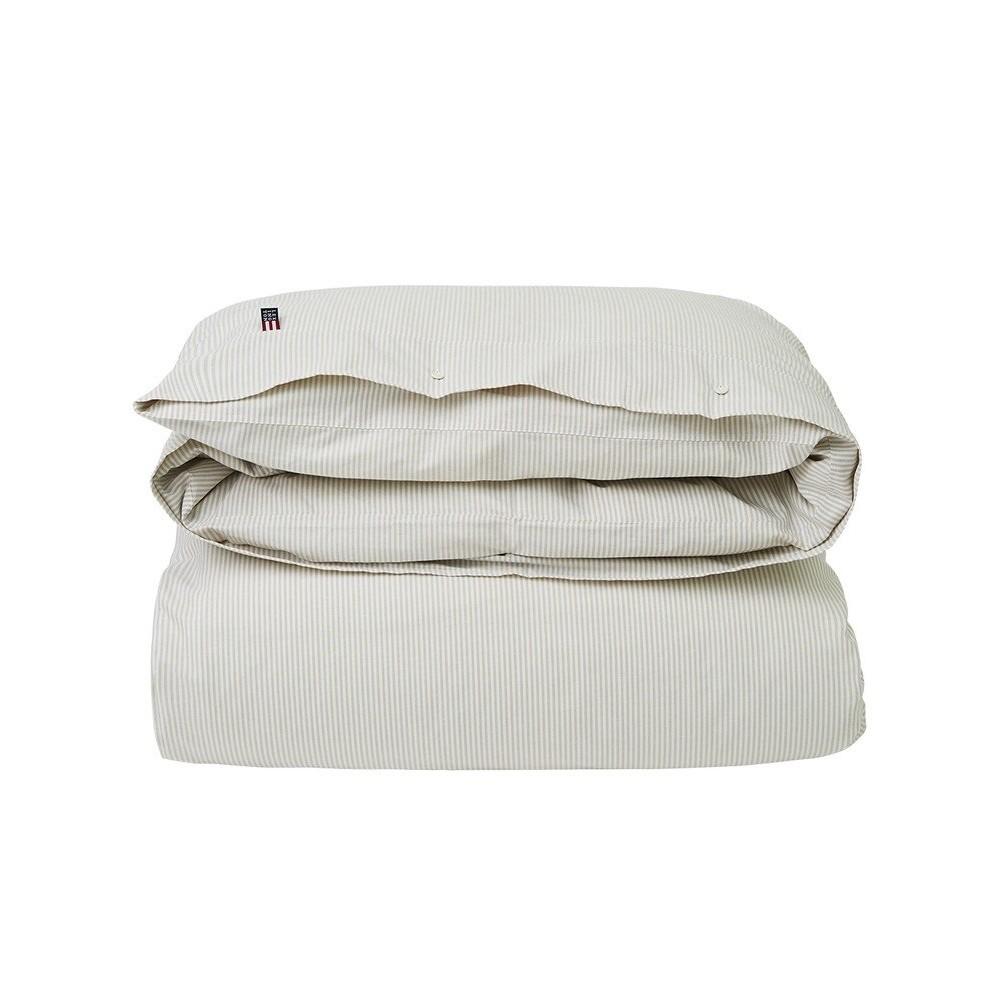 Lexington Pin Point Grey/White Duvet 140x200
