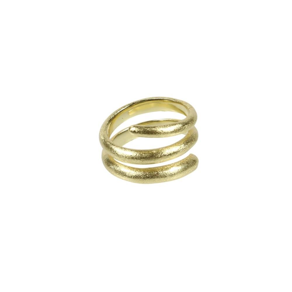 Spiral ring, guldbelagt