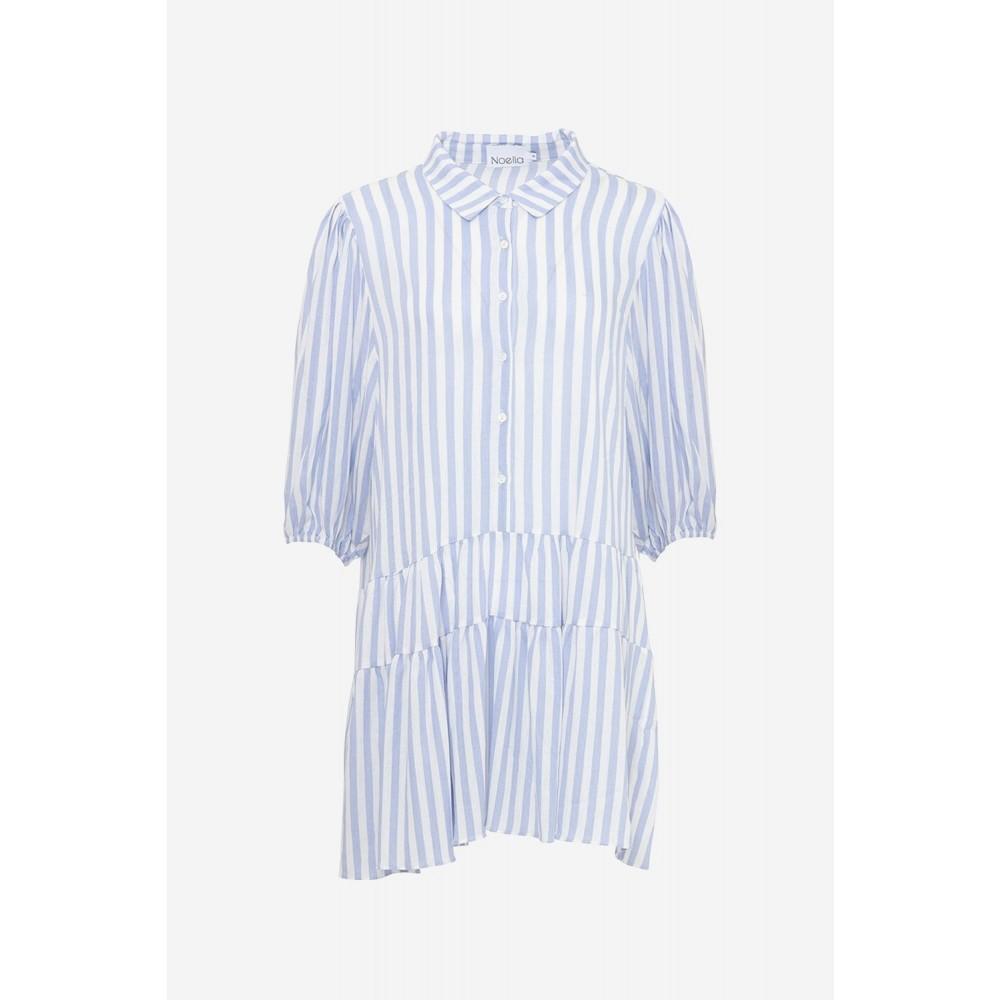 Etta dress - light blue stripe