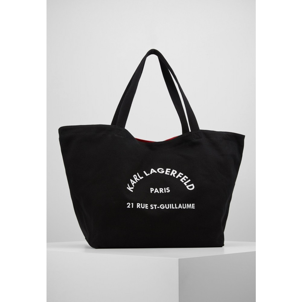 K/Rue St Guillaume Canvas Tote, Black
