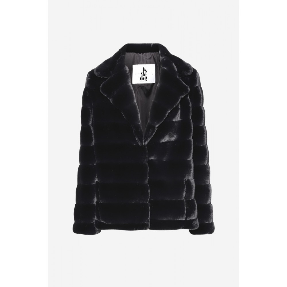 Filippa Faux Fur Jacket Black