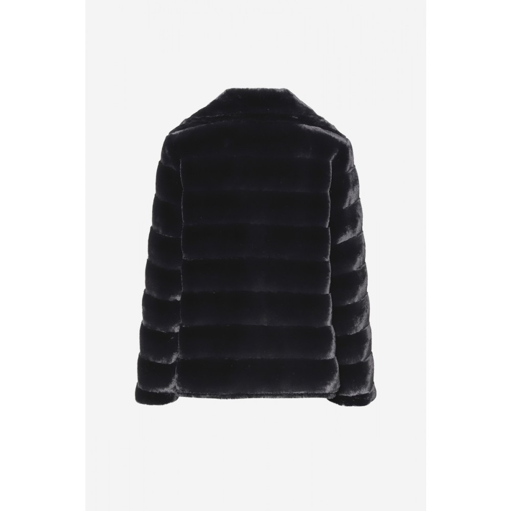 Filippa Faux Fur Jacket Black-01