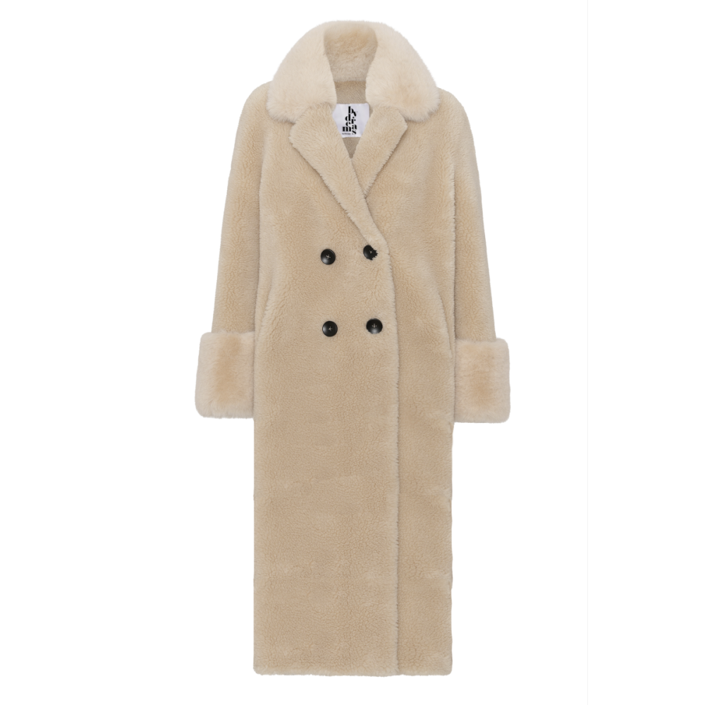 Fiona Wool Coat Long, Beige