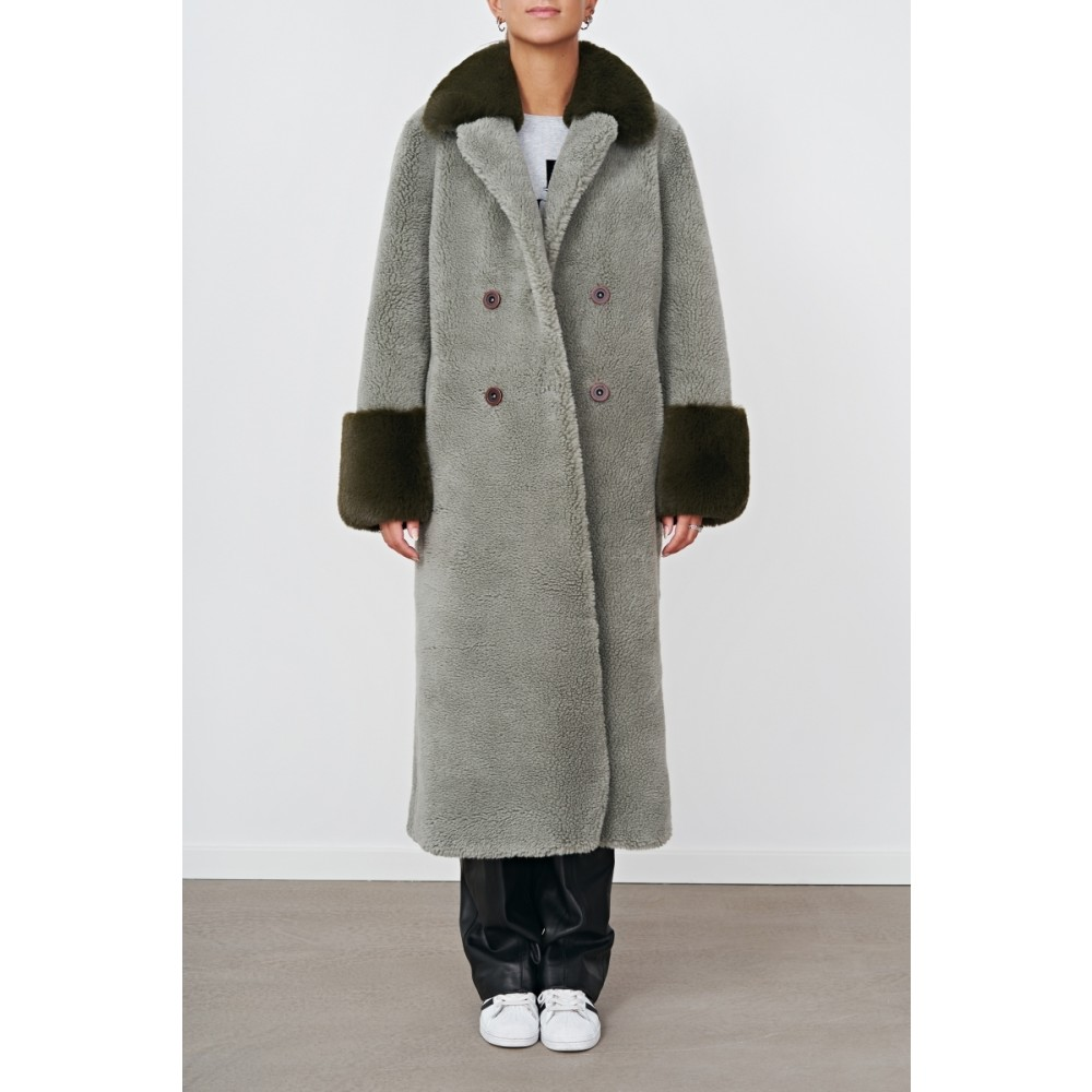 Fiona Wool Coat Long, Green