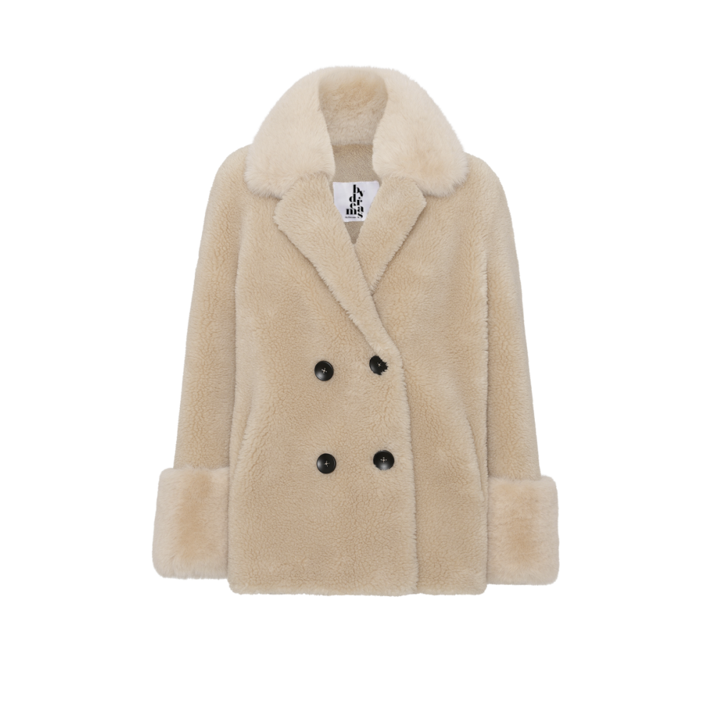 Fiona Wool Coat Short, Beige-01