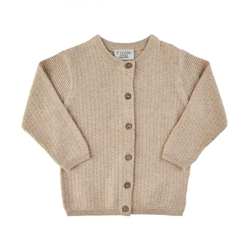 Fixoni knitted cardigan - sand melange