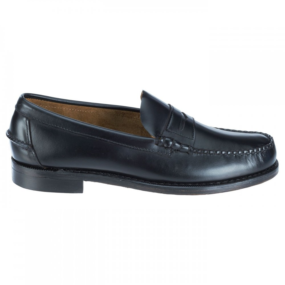 Sebago Classic, Black leather
