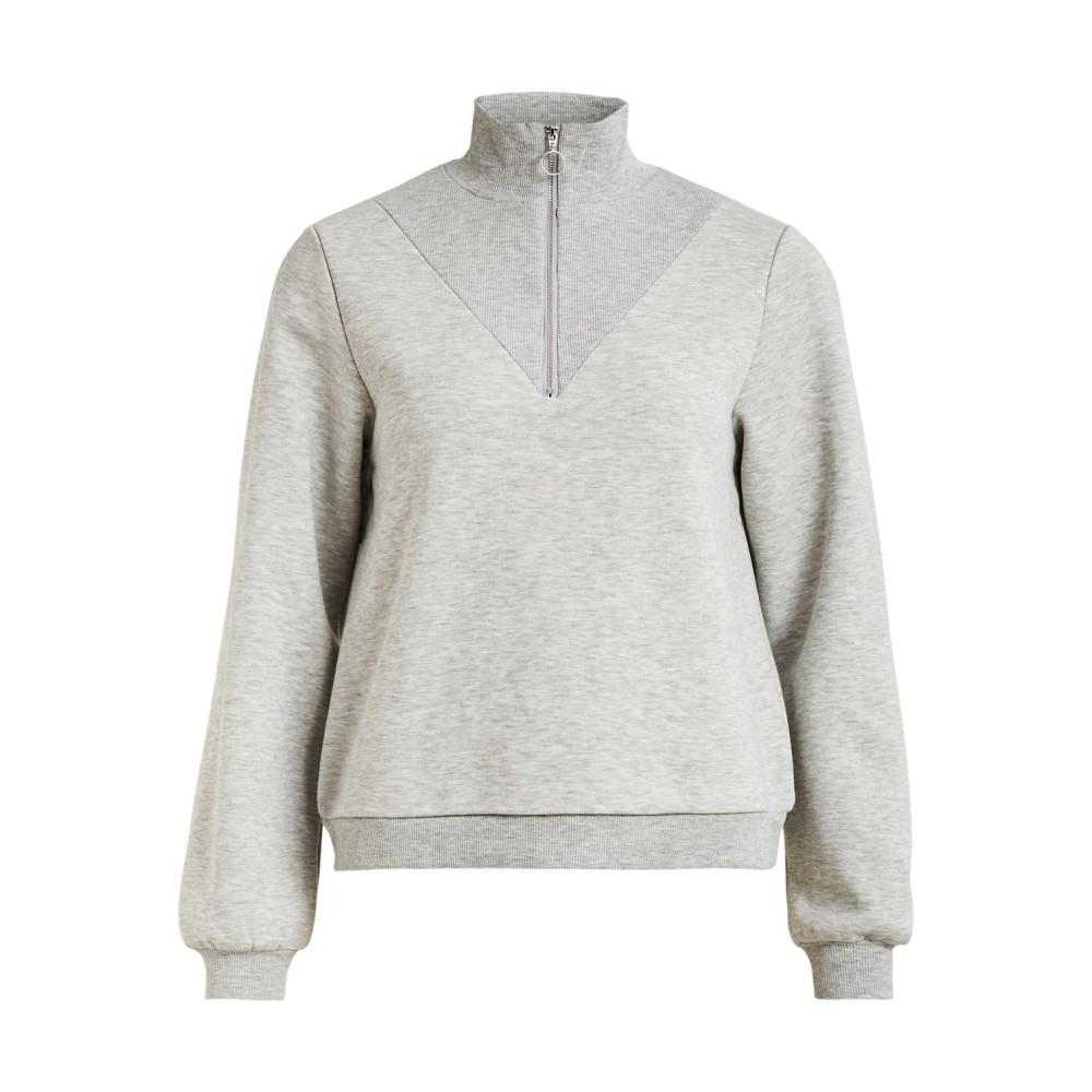 Vipera L/S zipper sweat - grey