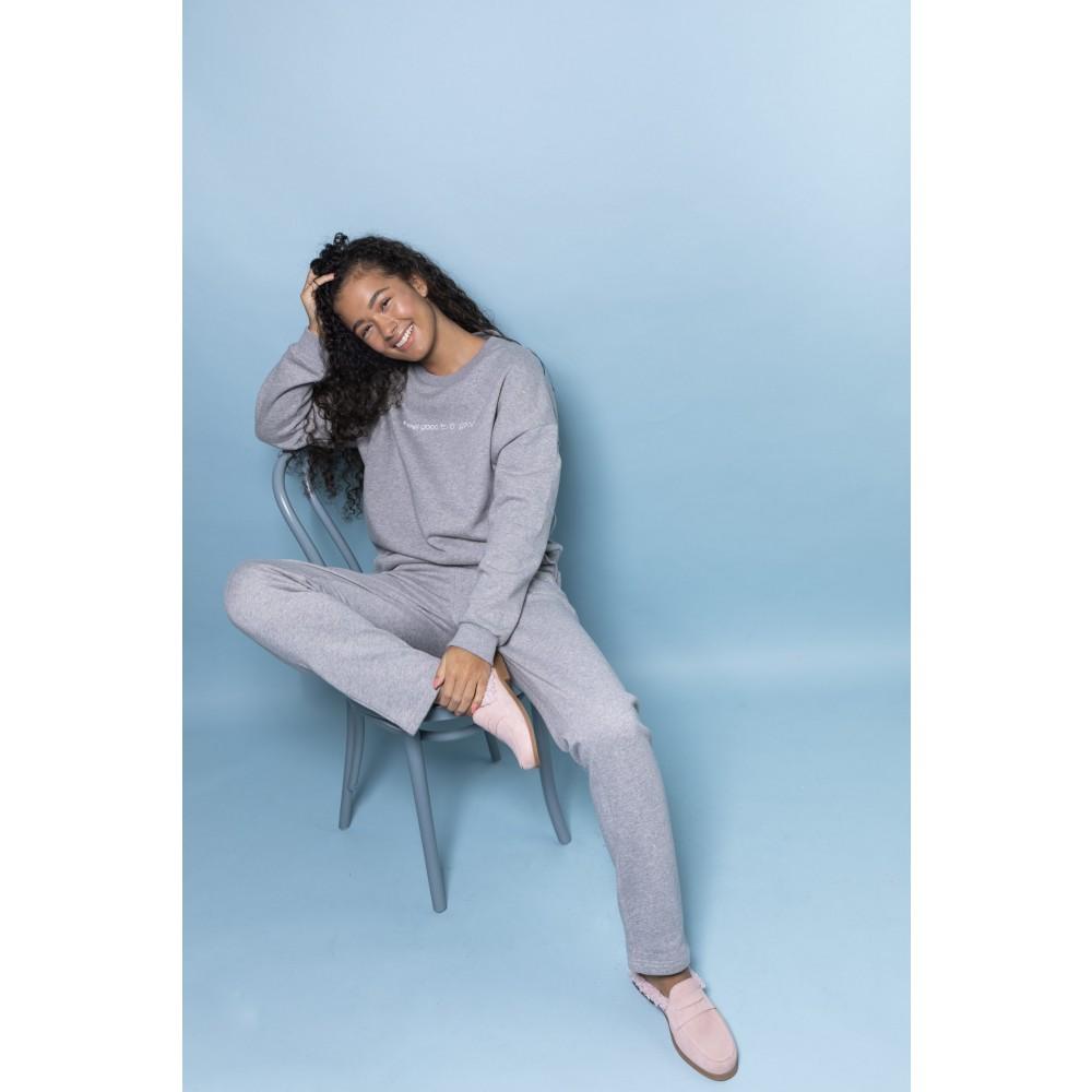 Comfort blouse - Grey melange