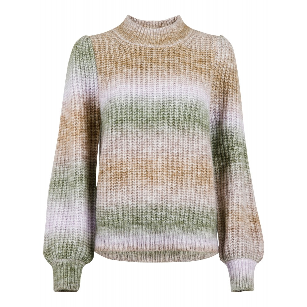 Aria Ombre Knit Blouse, Green