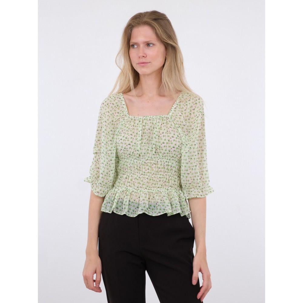 Celine daily flower blouse - green