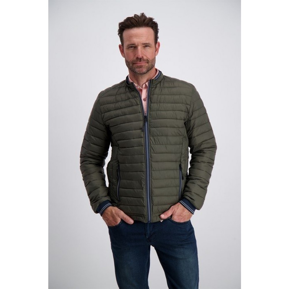 Lightweight quilted jacket - army
