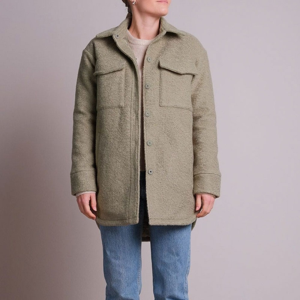 dusty army jacket