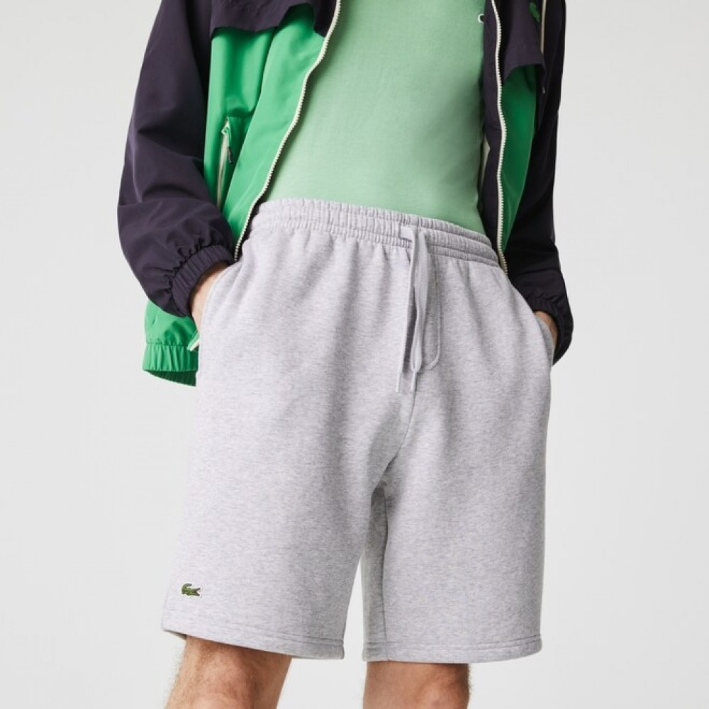Men's Lacoste sports Tennis Fleece Shorts - grå