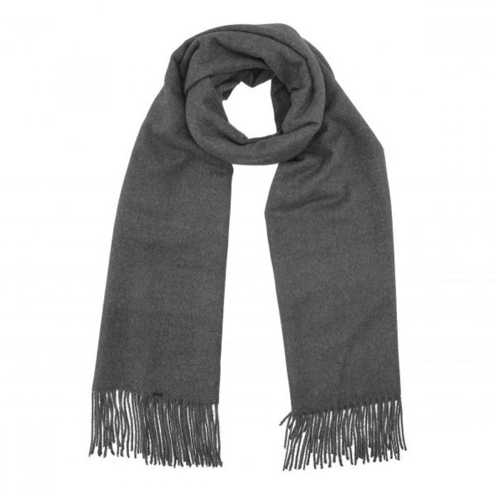 Cozy classic scarf, dark grey