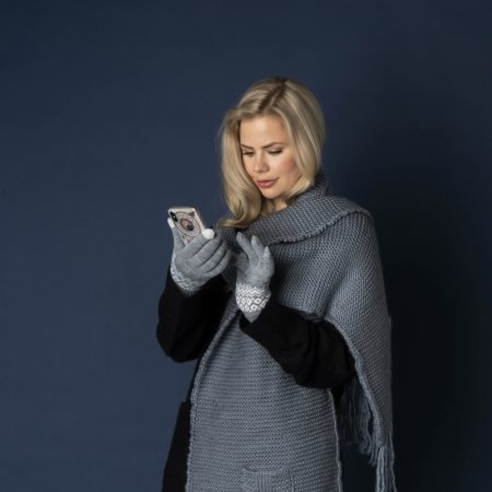 Hygge smartphone gloves, grey-02