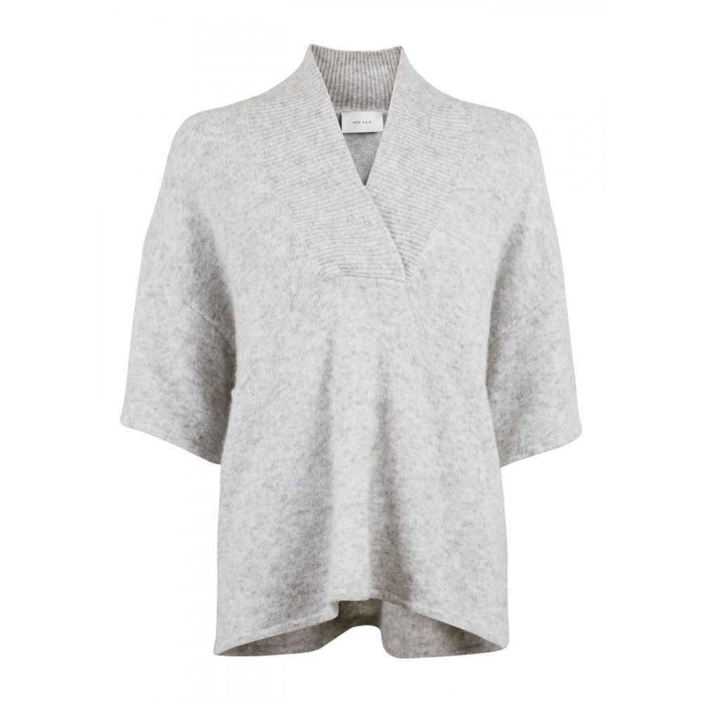 Kally knit blouse - light grey