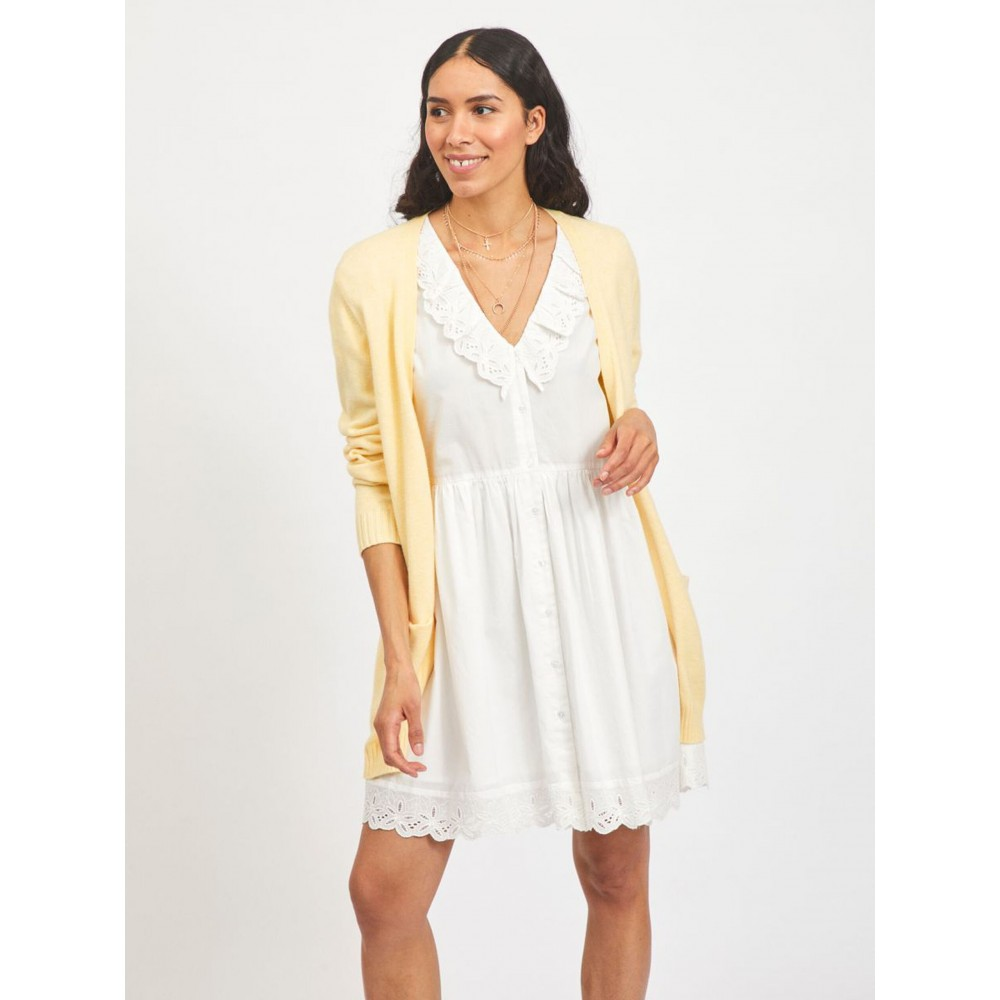 Viril open L/S knit cardigan - sunlight