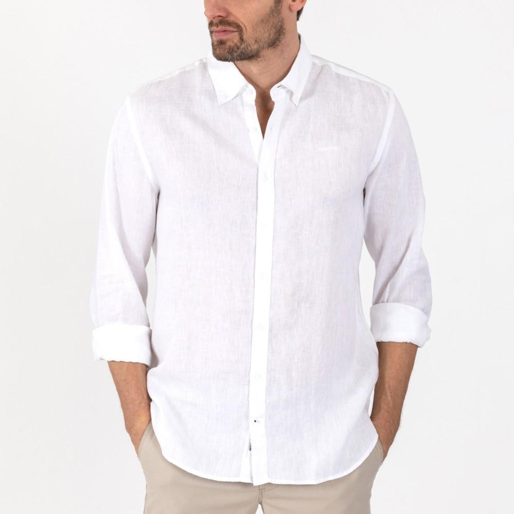 Anthony linen shirt - white