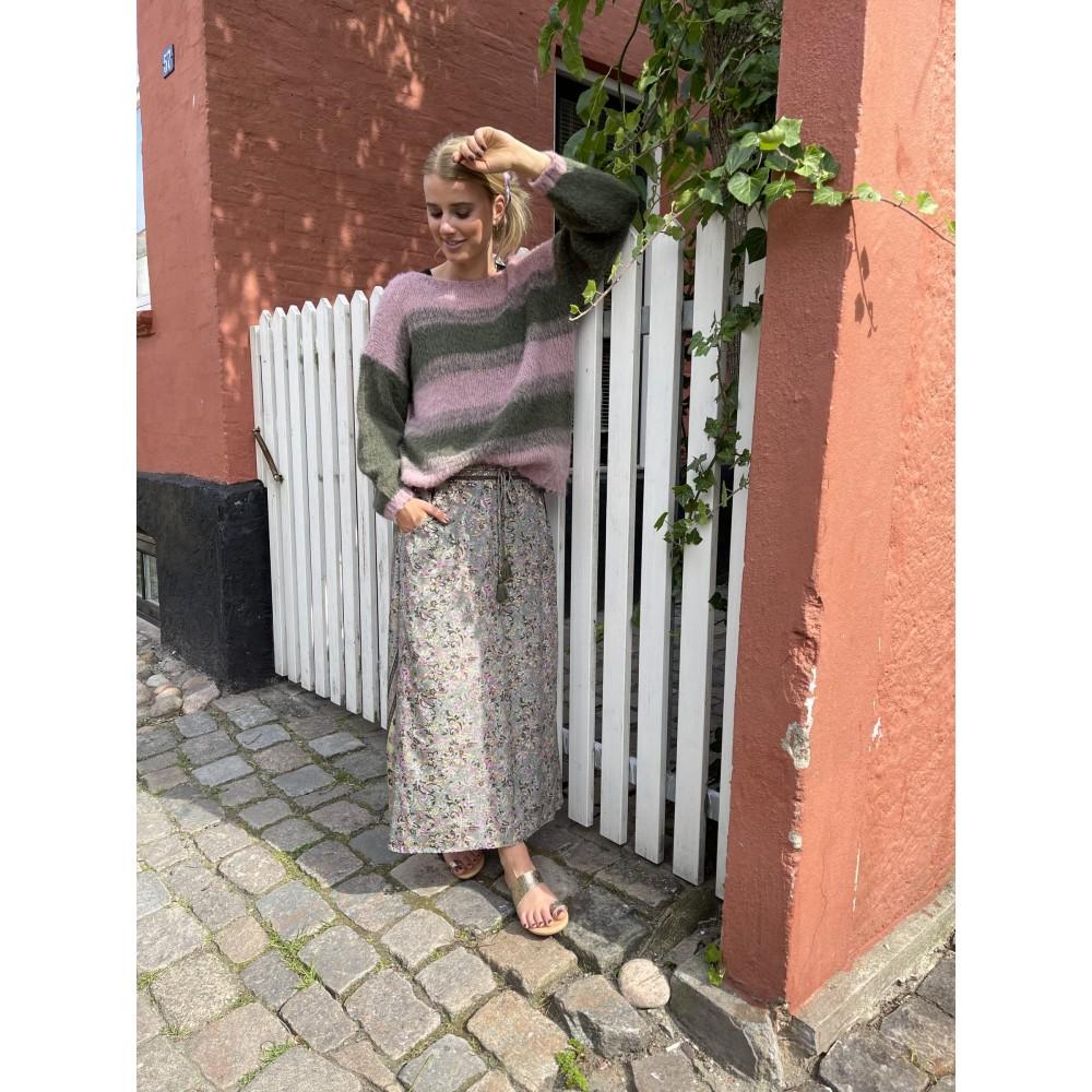 Luna bias skirt w/pockets - fall green