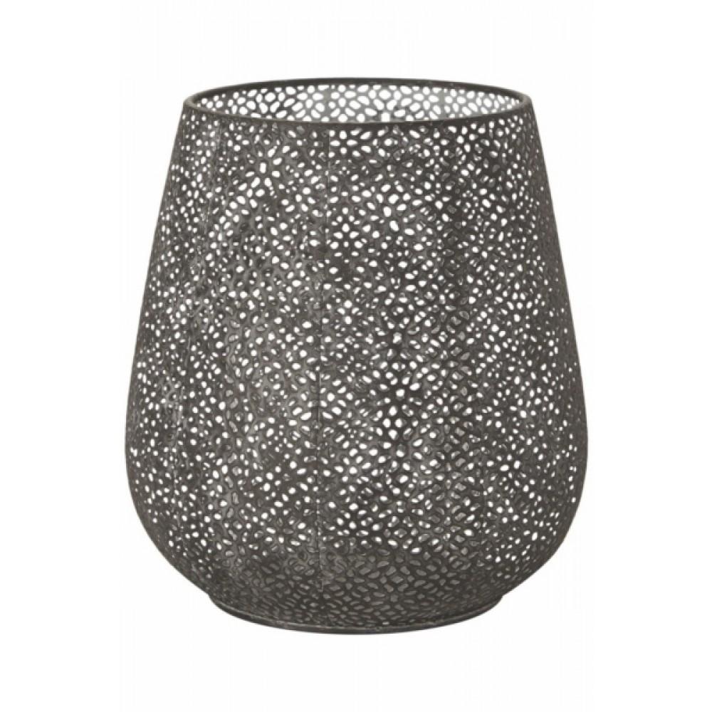 Buttet lanterne/vase - sort