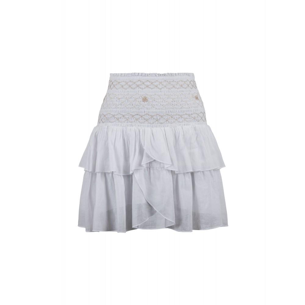 Neo Noir Carin smock skirt - white