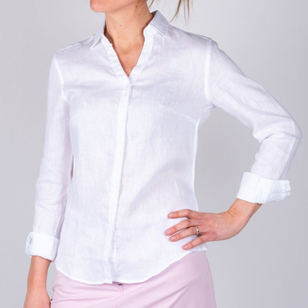 Bianca linen shirt - white
