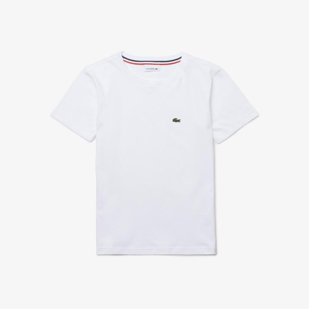 Boys' Crew Neck Cotton Jersey T-shirt - white